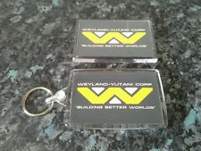 Weyland Corp Keyring and Magnet Set. Inspired by Alien