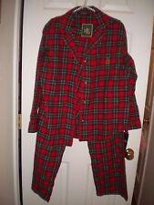 Ralph Lauren red, green & black plaid flannel pajama set #819948T NWT L