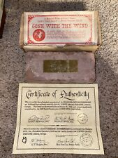 """Brick Memento From Historic Loew's Grand Theater"""" Gone with the Wind"""" 1939"""