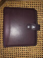 New Listingfranklin Covey Quest Burgundy Nappa Leather Binder Planner Snap Open
