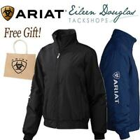 Ariat Ladies Team Stable Jacket Riding Coat Women's Waterproof Black or Navy