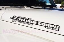 "Side Hood Marine Corps USMC Decal Vinyl Graphic for Jeep Wrangler 27""x5"""