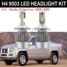 2x H4/9003 Car LED Headlight Kit Bulb For Honda Ridgeline 2008-2006 Hi/Low Beam