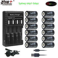 12X 16340 650mah cr123a rechargeable battery + 1pc 18650 16340 battery charger