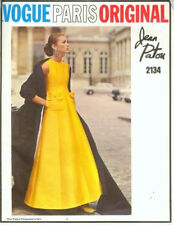 1969 Vintage VOGUE Sewing Pattern Bust 31 1/ 2 ins DRESS & STOLE (1856) PATOU