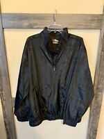 PGA Tour Men's Black Plaid Pullover Windbreaker 1/4 Zip Golf Jacket Size XL NWOT