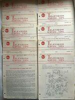 RCA TELEVISION SERVICE TIPS MANUAL 11 Issues from 1955-1956 Vintage