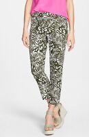 NWT Kate Spade Orchid Jackie Capri Pants Havana Olive Green White $258 – 0