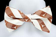 Texas Longhorns Plaid Mens Bow Tie Adjustable College University Logo Gift New
