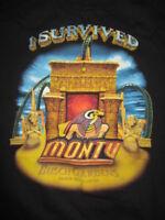 BUSCH GARDENS MONTU Roller Coaster I SURVIVED Tampa Bay FL (2XL) T-Shirt