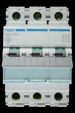 HAGER 20 AMP TYPE C 10kA TRIPLE POLE MCB CIRCUIT BREAKER NCN320A 461583