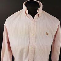 Ralph Lauren Mens Vintage THICK Oxford Shirt 15.5 32 (MEDIUM) Pink Classic Fit
