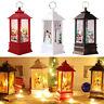 Christmas Santa Claus Snowman Deer Flame Lights Lamp Hanging Lantern Ornament EN