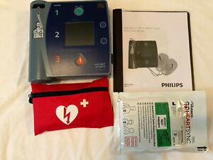PHILIPS HEARTSTART FR2+ AED DEFIBRILLATOR, NEW PADS 2024, NEW BATTERY, EXP 2025