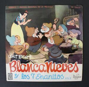 "1962 Walt Disney SNOW WHITE 7"" Record Original Spanish Vintage Item by HispaVox"
