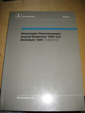 Mercedes Service  Neuerungen PKW 1989/ 90 - W 124 - 300 E / TE / CE + M 102 /104