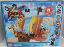 CARIBBEAN DRAGON PIRATE PLAY SET SHIP NOT PLAYMOBIL 70 PCS HUGE FIGURE LOT MIB