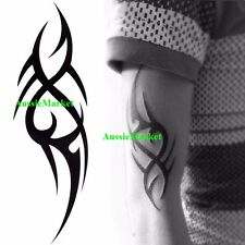 2 x temporary tattoo sheet tribal party body art fancy dress arm sleeve sticker