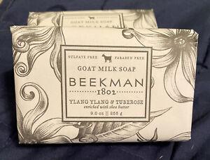 SEALED Beekman 1802 Ylang Ylang And Tuberose Bar Soap 9oz
