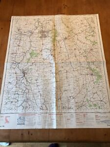 "HUGE 1968 RAF CROWN COPYRIGHT ""SCUNTHORPE"" (35.5"" x 29.5"") CHART MAP"