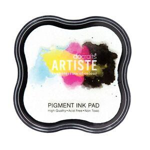 Stempelkissen Pigment weiß Stamp INK Pad WHITE Embossing Artiste Docrafts