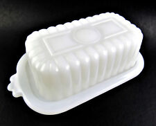VINTAGE MILK GLASS SMALL BUTTER DISH (E66)
