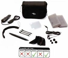 i-Con Black Starter Kit - 3DS Accessories Travel Pack Case Stylist Charger New