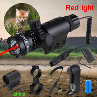 Outdoor Tactical Hunting Red Green Dot Laser Sight Rail Scope 11mm 21mm Battery
