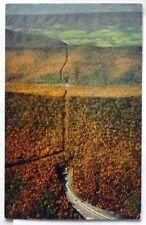 Pennsylvania Turnpike, Sky View through Blue Mountain Tunnel. 1957 Postcard B785