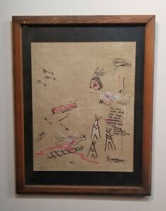 Jean-Michel Basquiat  Painting  Drawing on panel