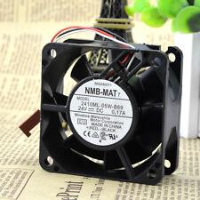 2pcs NMB 2410ML-05W-B69 DC24V 0.17A 3pin 60x60x25mm Server Cooling Square fan
