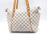 Auth LOUIS VUITTON Totally PM Damier Azur Canvas Tote Shoulder Bag N41280 V-5638