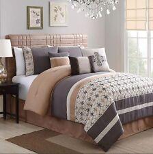 Queen Size Bedding Hypoallergenic Comforter Set For Women Men Sheets 10 Piece
