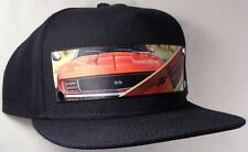 Hat Cap Front Nylon Strap Chevrolet Chevy Camaro 1969 Black CHAK