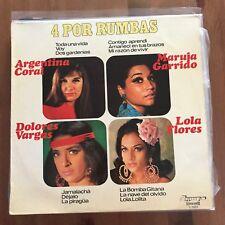 ARGENTINA CORAL / DOLORES VARGAS / MARUJA GARRIDO / LOLA FLORES- 4 POR RUMBAS LP