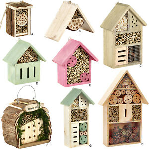 Insect Wooden Hotel Natural House Home Bees Bugs and Insects Nesting Box Garden