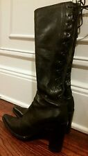 Miu Miu Prada Boots Leather Womens Designer Brand Name Size 38 Size 7