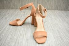 Chinese Laundry Jettie Ankle Strap Suede Heels, Women's Size 9.5, Brown