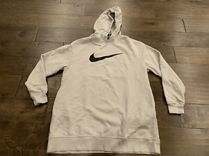 Nike Womens Sportswear Swoosh French Terry Hoodie Off White Dress Size S SMALL