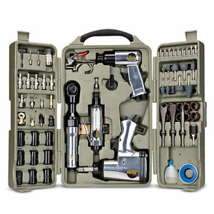 Trades Pro 71 Piece Air Tool and Accessories Kit with Storage Case, 836668