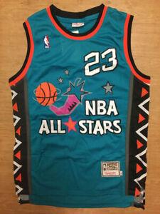 Michael Jordan 1996 All Star Men's TEAL Throwback Swingman Stitched Jersey