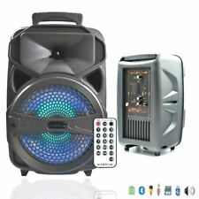 Portable Outdoor Bluetooth Speaker Party Subwoofer Sound System with Karaoke US