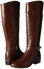 Ralph Lauren Womens Madisen Leather Almond Toe Knee High, Dark Brown, Size 5.0 U