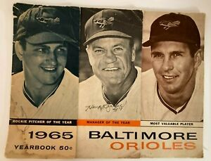 1965 BALTIMORE ORIOLES MLB Yearbook Signed by B Robinson H Bauer & P Blair