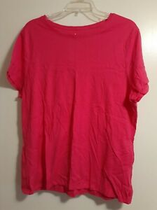 JUST MY SIZE Women's Plus-Size Short Sleeve Crew Neck Tee | 1X | Pink
