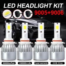 9005 9006 Combo 200W 40000LM 4x LED Headlight Kit Hi/Lo Beam Bulb 6000K White