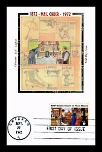DR JIM STAMPS US MAIL ORDER 100TH ANNIVERSARY COLORANO SILK FDC MAXIMUM CARD