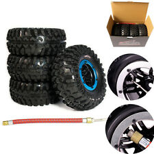 "4x Wheels 2.2"" Inflatable Tires Alloy Beadlock For 1/10 Rc Rock Crawler"