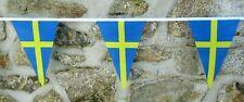 More details for sweden flag polyester bunting - various lengths