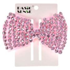 Accessoires de coiffure pinces à cheveux rose en tissu pour femme